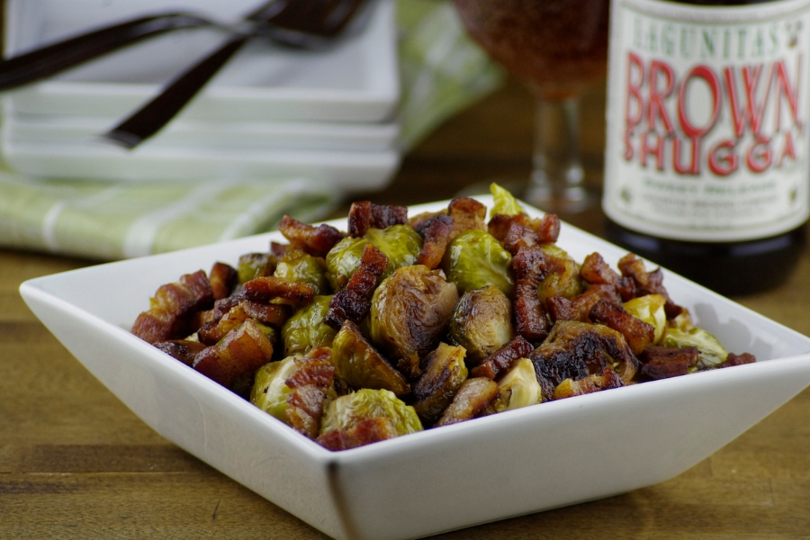 9 Ways to Beerify Your Thanksgiving Dinner: Beer Glazed Brussels Sprouts with Bacon