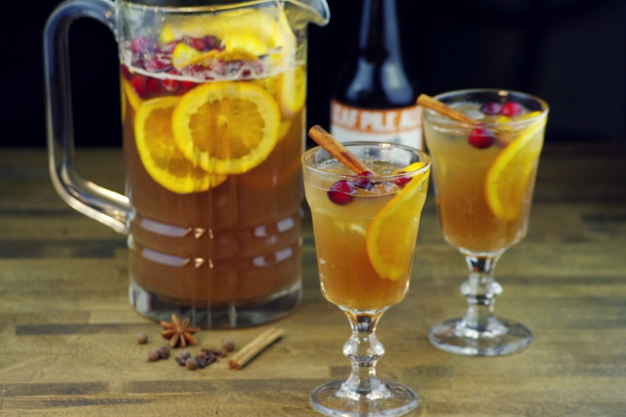 9 Ways to Beerify Your Thanksgiving Dinner: Sparkling Cranberry Pumpkin Beer Sangria