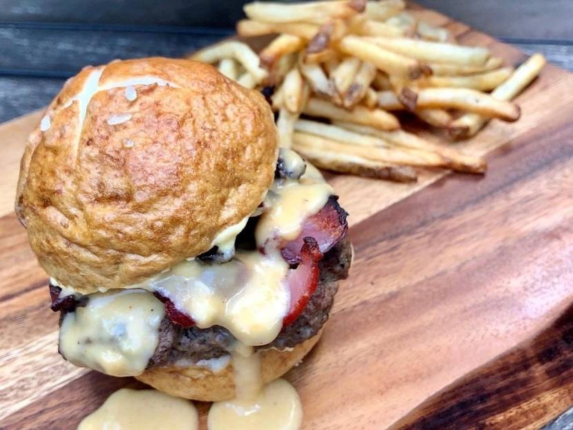 A Bacon Beer Cheese Burger Is The Ultimate Burger Food Loves Beer